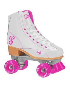 CANDI GRL SABINA Colorful Women's Freestyle Roller Skates - White/Pink