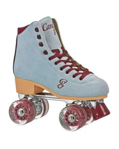 CANDI GIRL CARLIN Colorful Women's Freestyle Roller Skates - Blue/Burgundy