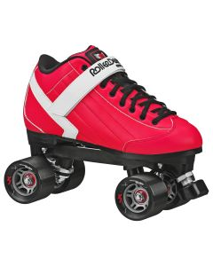 Stomp Factor 5 Quad Roller Skates - for derby or speed - Red